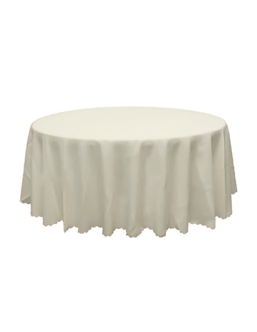 White Round Banquet Tablecloth