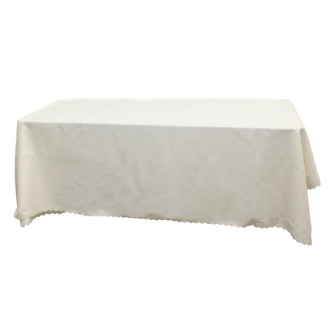 White Square Banquet Tablecloth