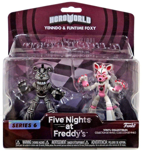 FIVE NIGHTS AT FREDDY's - Yenndo & Funtime FoxSeries 6 Heroworld - Pop Figures