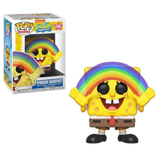 SpongeBob S3 Spongebob with Rainbow Animation Pop! Vinyl Figure - Pop Figures