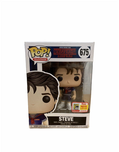 Steve #675 Funko Pop! Stranger Things. SDCC 2018 Exclusive LE1800 Pcs. Condition 7/10 - Pop Figures