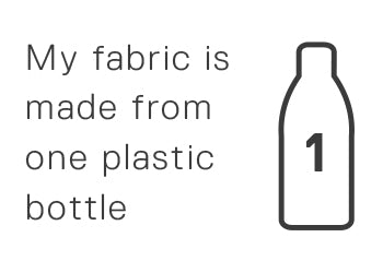 My fabric is made from one plastic bottle.