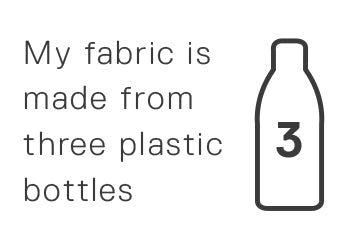 My fabric is made from three plastic bottles.