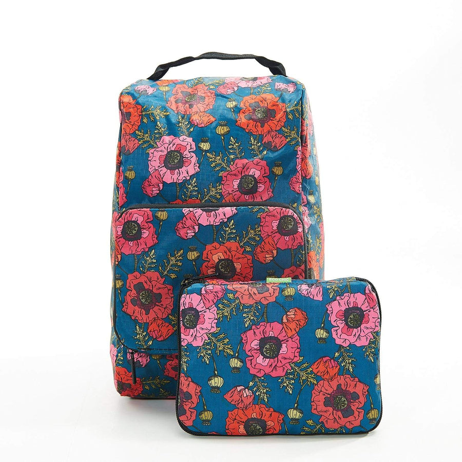Eco Chic Eco Chic Foldable Boot Bag Poppies