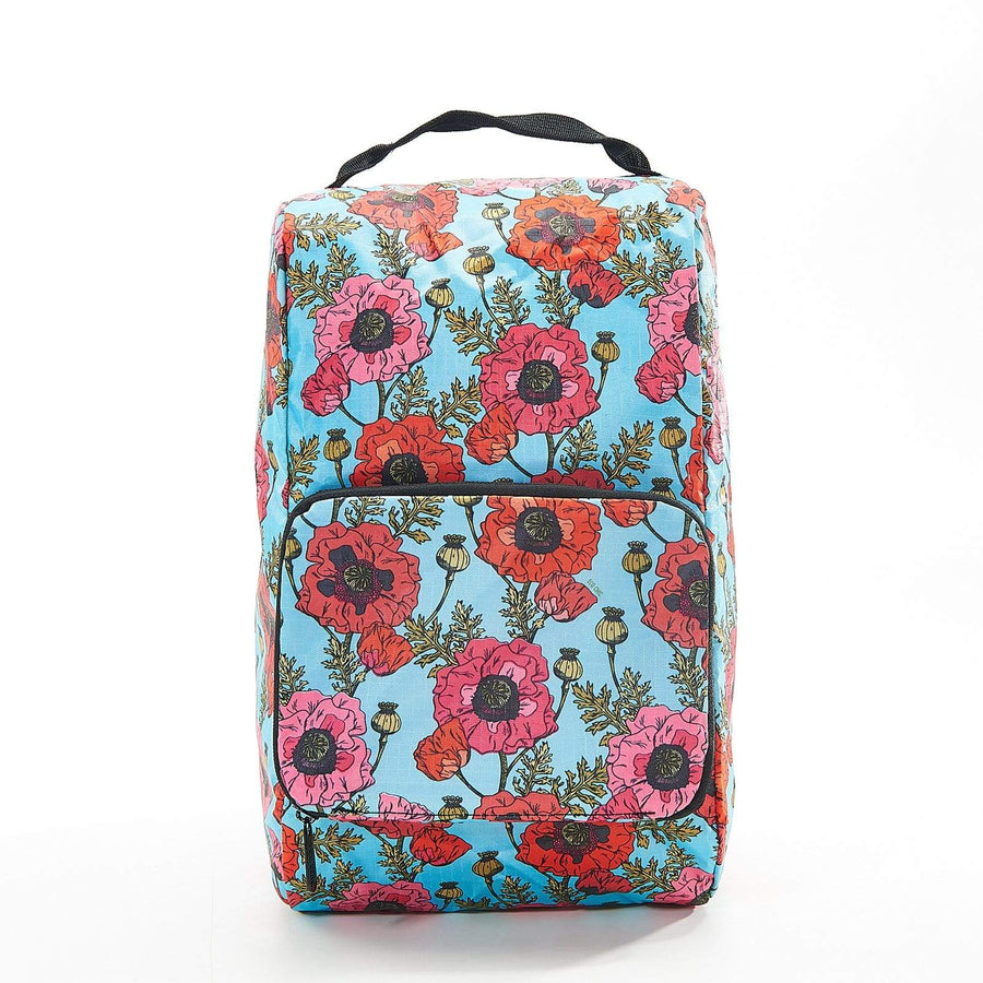 Eco Chic Light Blue Eco Chic Foldable Boot Bag Poppies