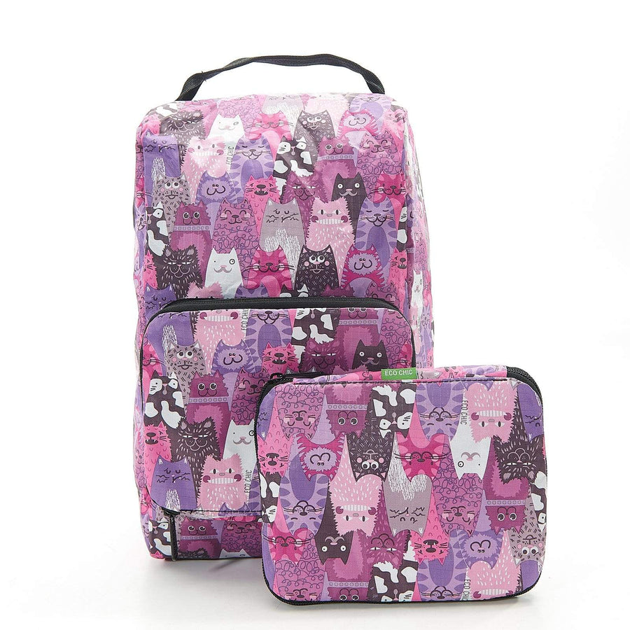 Eco Chic Eco Chic Foldable Boot Bag Stacking Cats