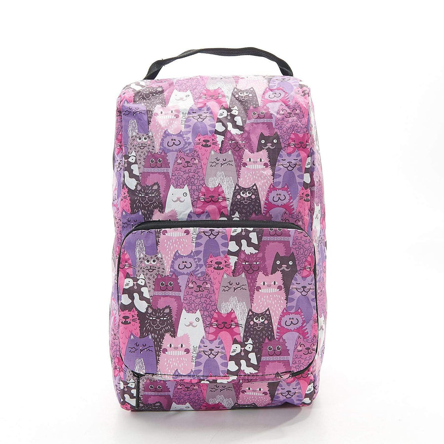 Eco Chic Purple Eco Chic Foldable Boot Bag Stacking Cats