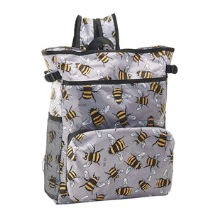 Eco Chic Eco Chic Sac à dos pliable léger Cooler Bees