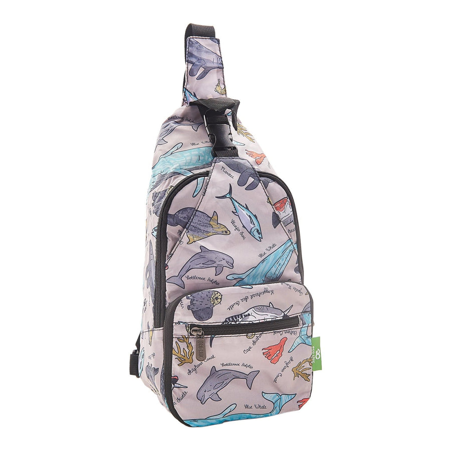 Eco Chic Eco Chic Lightweight Foldable Crossbody Bag Sea Creatures