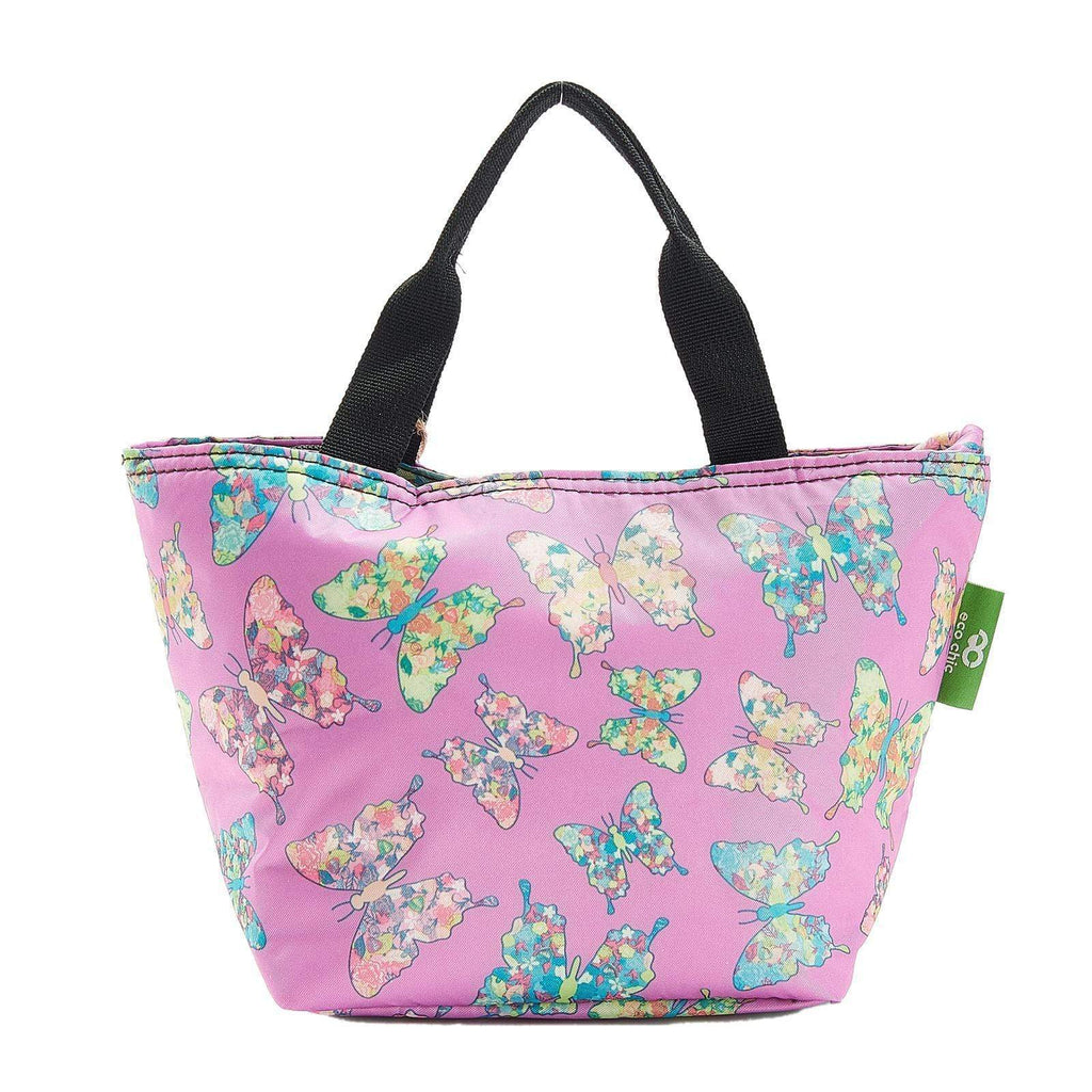Eco Chic Lilas Eco Chic Sac à lunch pliable léger Butterfly