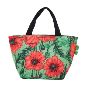 Eco Chic Green Eco Chic Sac à lunch pliable léger Coquelicots