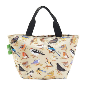 Eco Chic Green Eco Chic Sac à lunch pliable léger Wild Birds
