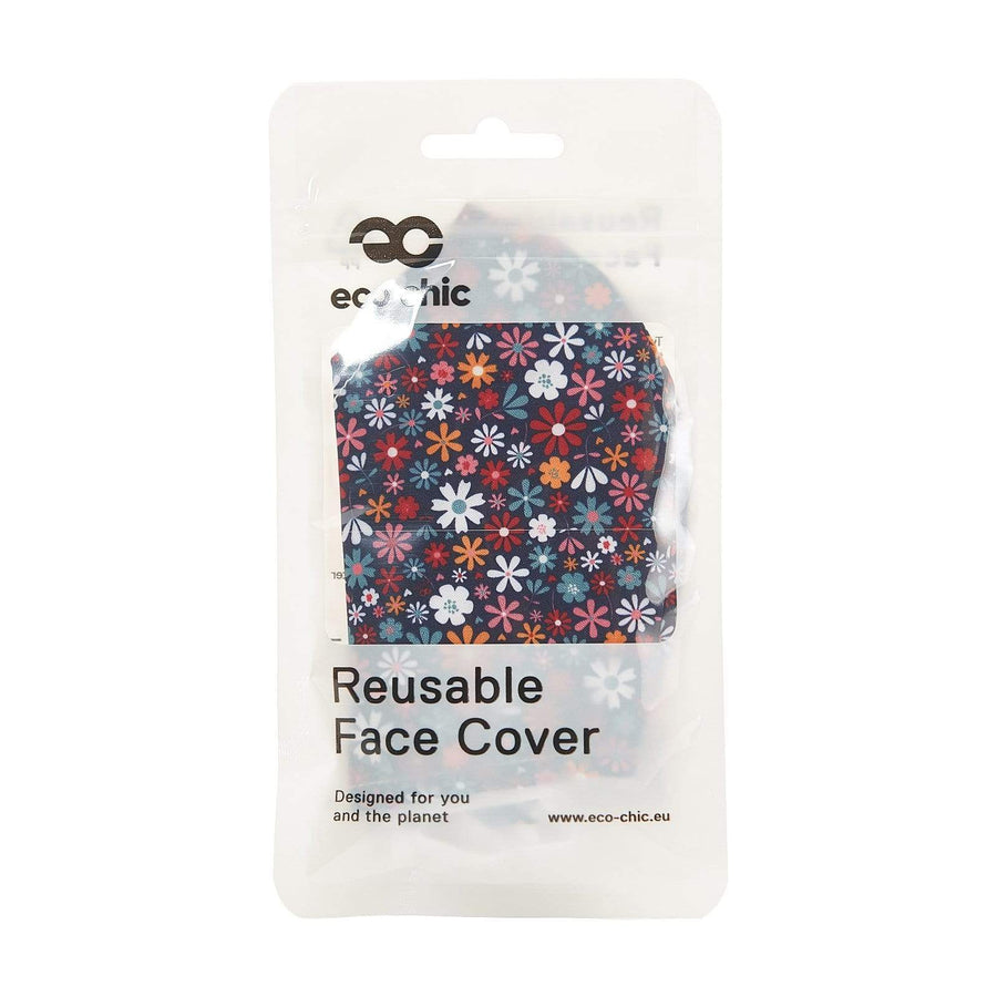 Eco Chic Eco Chic Reusable Face Cover Black Ditsy