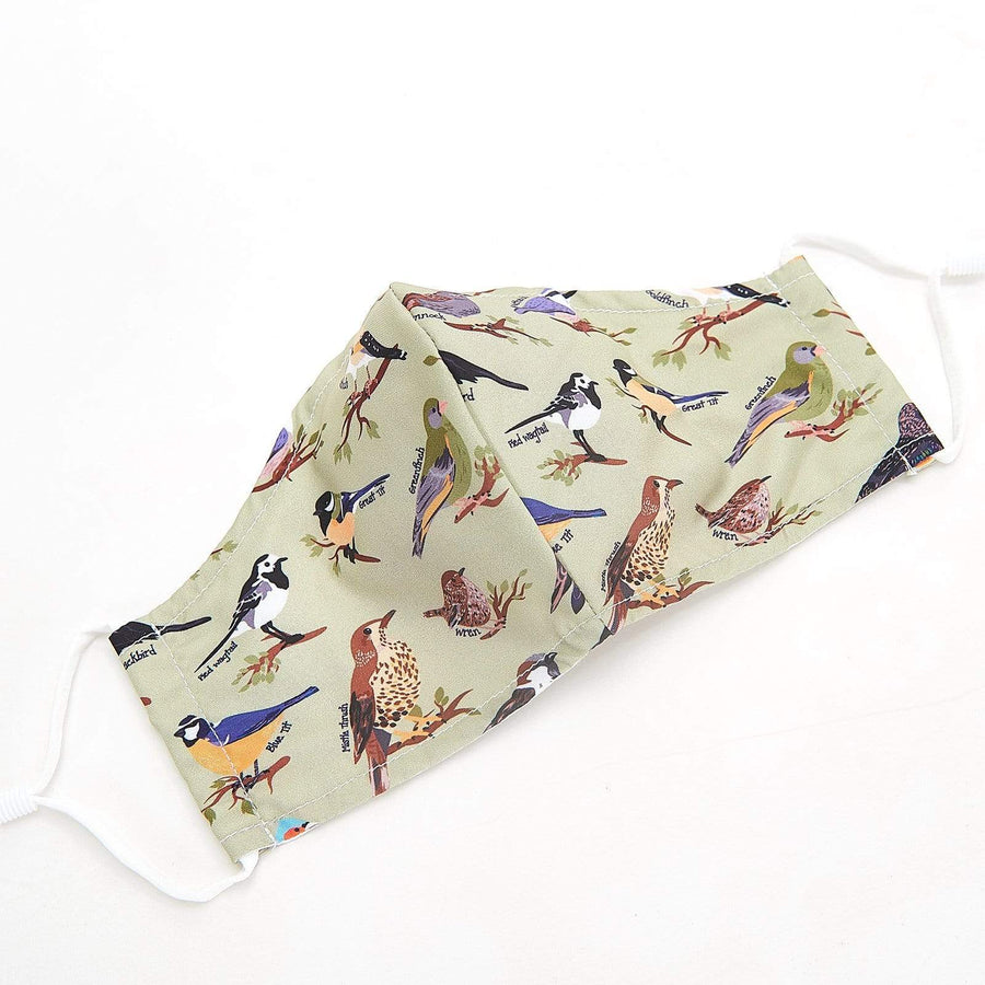 Eco Chic Eco Chic Reusable Face Cover Green Wild Birds