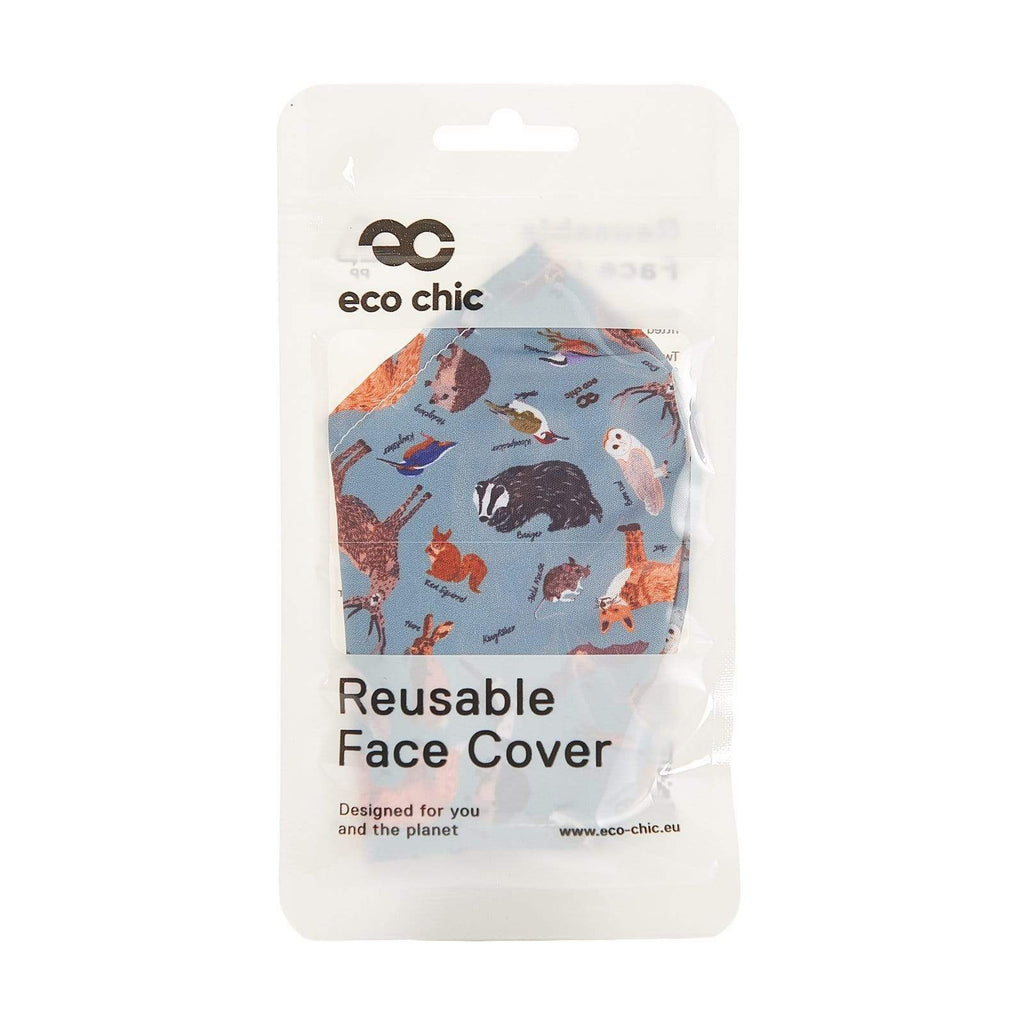 Eco Chic Eco Chic Cubierta facial reutilizable Olive Woodland