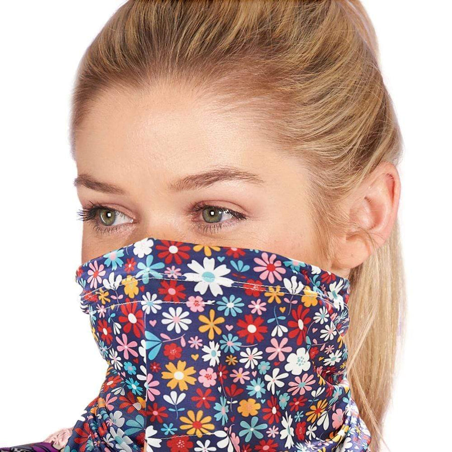 Eco Chic Eco Chic Snood Face Mask Black Ditsy