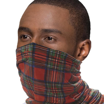 Eco Chic Eco Chic Snood Face Mask Red Tartan