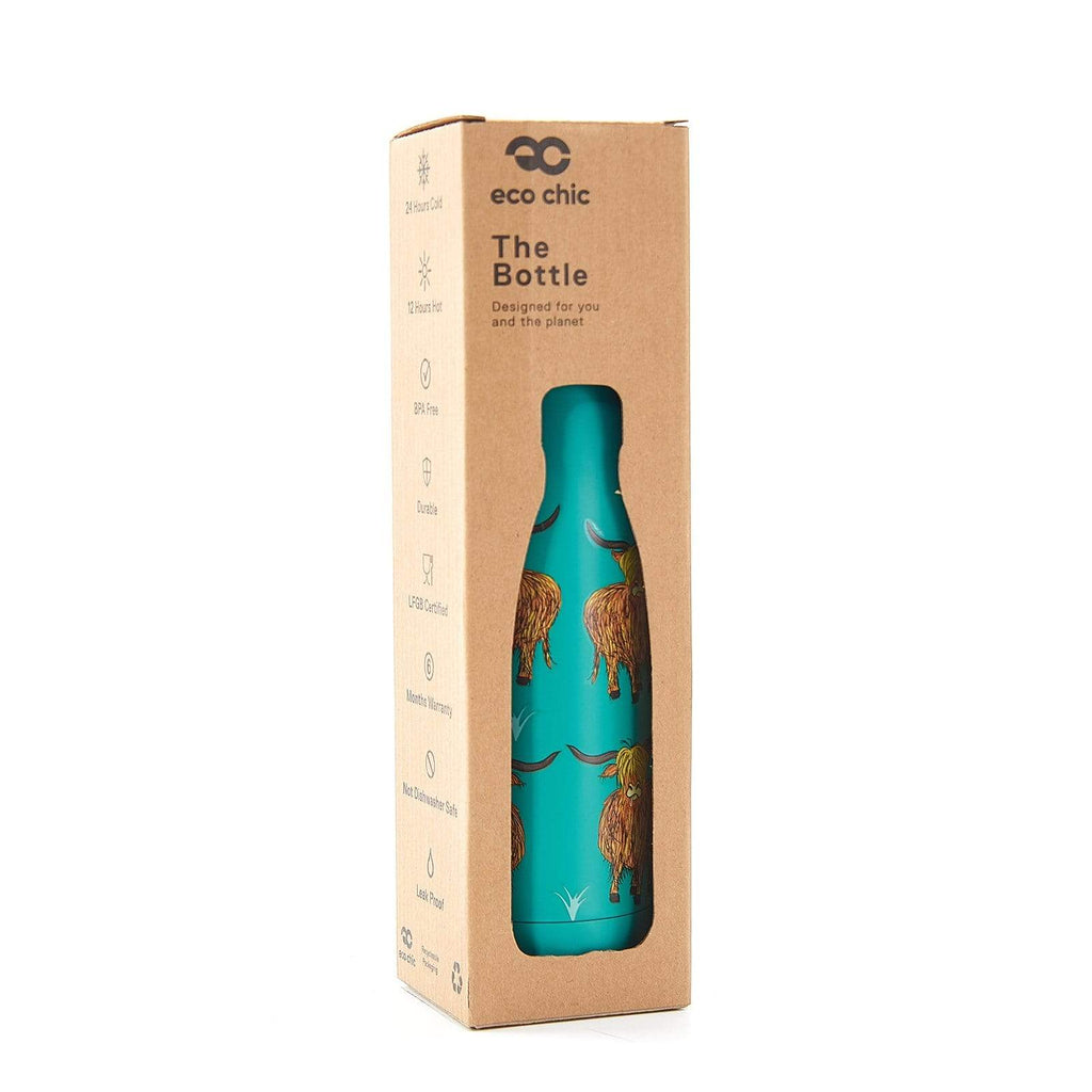 Eco Chic Eco Chic Bouteille thermique Highland Cow