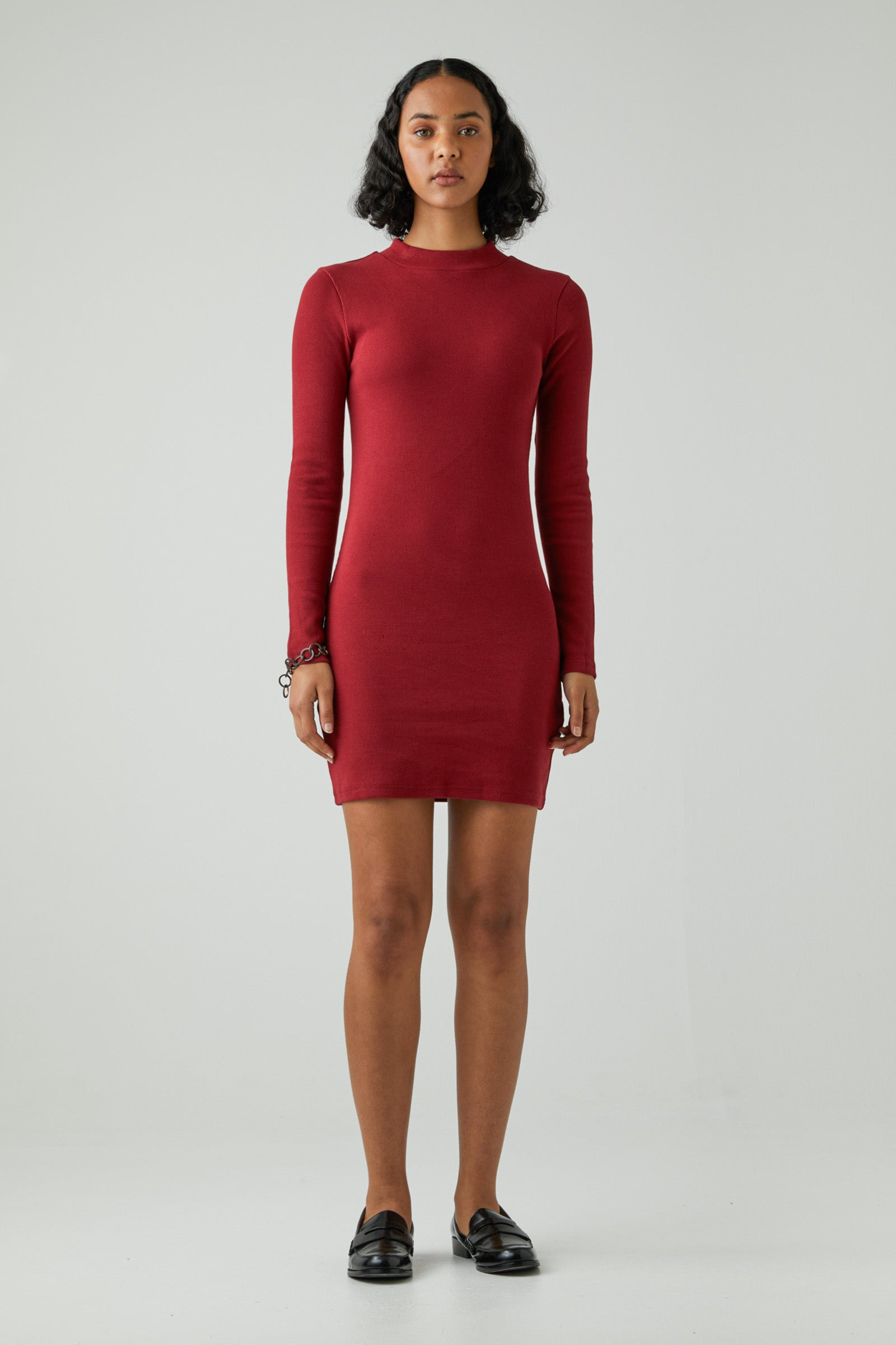 Jonesy Long Sleeve Dress - Deep Red
