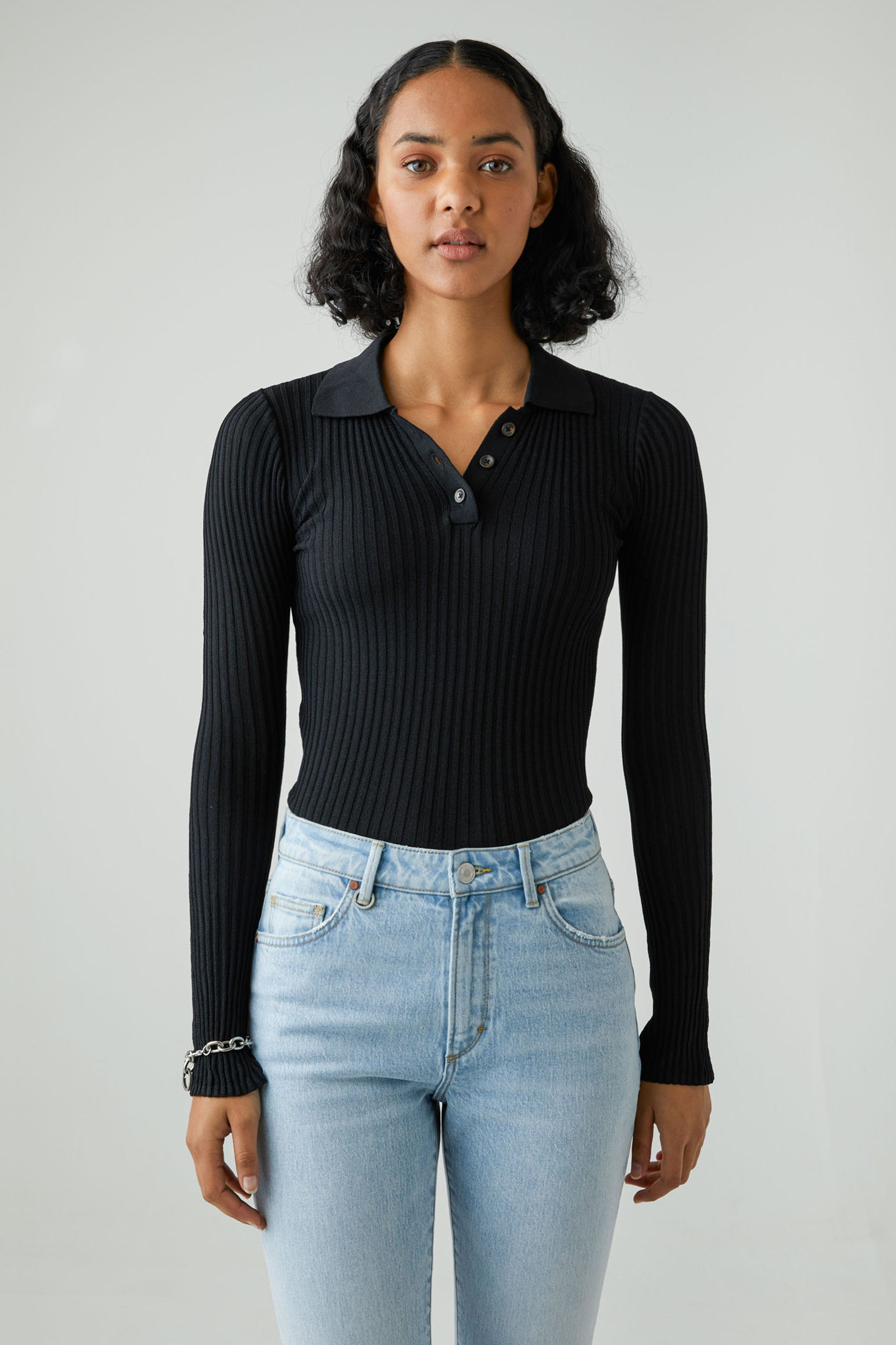 Jaye Rib Knit - Black