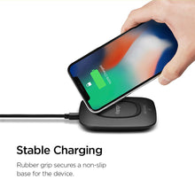 Load image into Gallery viewer, Spigen Essential F301W Ultra Slim Wireless Charger - Black