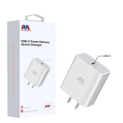 MyBat Power Delivery Type-C Fast Wall Charger Adapter 18W - White
