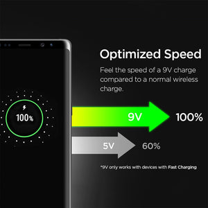 Spigen Essential F301W Ultra Slim Wireless Charger - Black