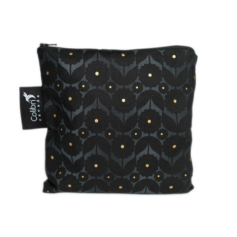 Colibri Canada - Midnight Flower Reusable Snack Bag (Large)