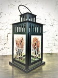 KE Studios - Fused Glass Lantern (Fall Trees)