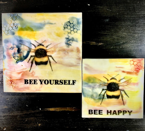 "Encaustics by Melody - 8"" bee wax sign"