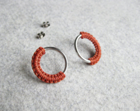 raïz - Meia - Silver hoop earrings