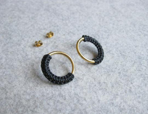 raïz - Meia gold hoop earrings