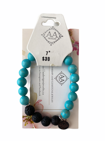 AA Designs - Howlite, Turquoise & Lava