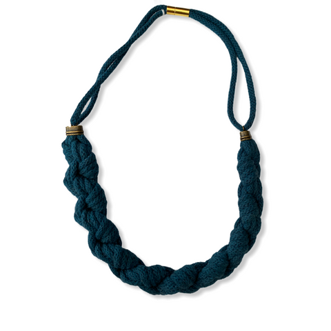 KNOT YOU KNOT ME - MACRAME DOUBLE BRAIDED NECKLACE