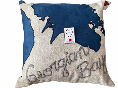 Stitchy Kitchy Coo - You Are Here Pillow