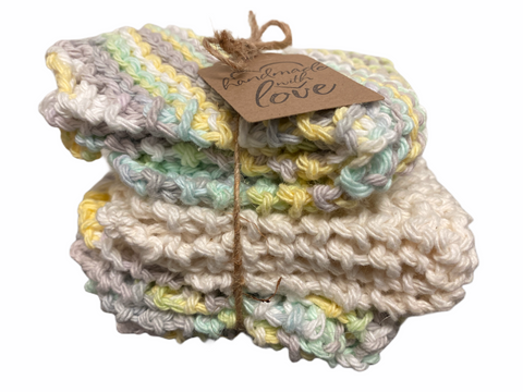 Knitted Dishcloth - 3 pack