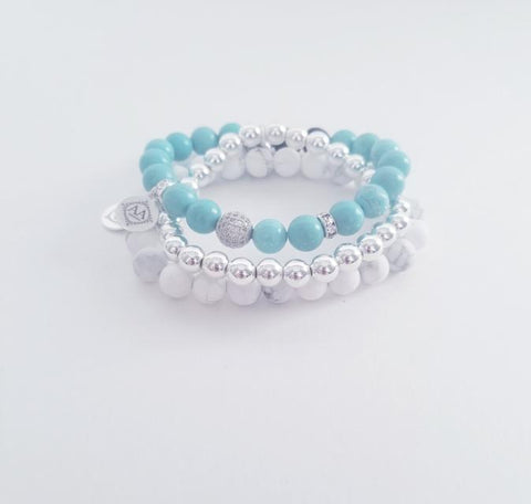 AA Designs - Calming Summer Stack | Silver
