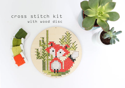 Diana Watters - Red Fox in the Desert: Modern DIY Cross Stitch Kit