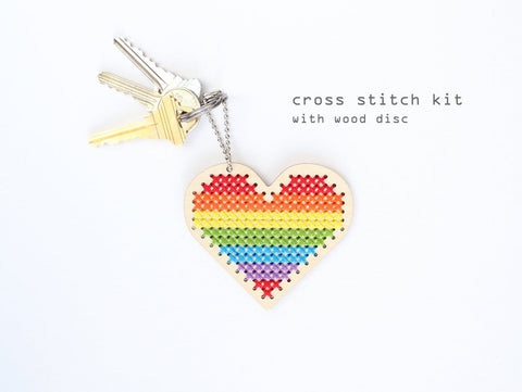 Diana Waters - Sweetheart: Keychain and Backpacker Cross Stitch Kit