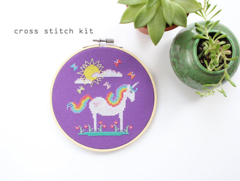 Diana Watters - Sunshine Unicorn DIY Cross Stitch Kit