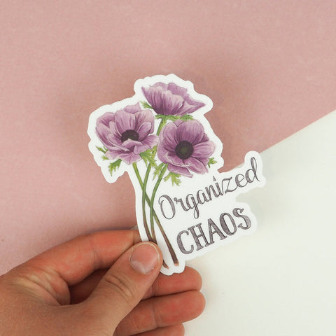 Naughty Florals - Organized Chaos Vinyl Sticker