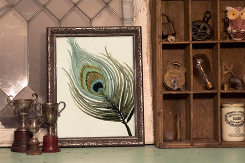 Alicia's Infinity - Peacock Feather Watercolour