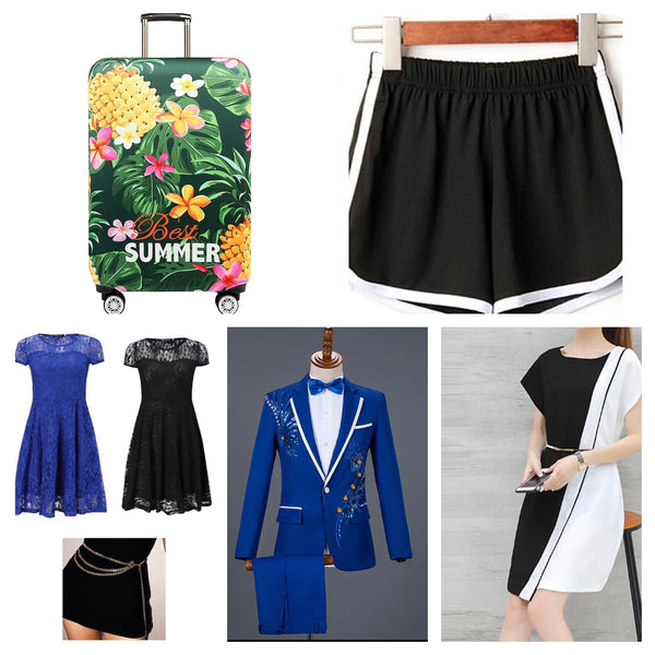 [NEW WHOLESALE] Clothing & Apparel,Dresses,Blazers,Luggage covers,etc