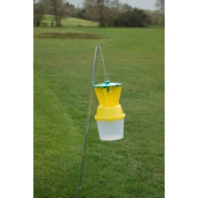 Chafer Beetle Funnel Trap  (Green Lid & Basket, Yellow Vane & Funnel, Clear Base)