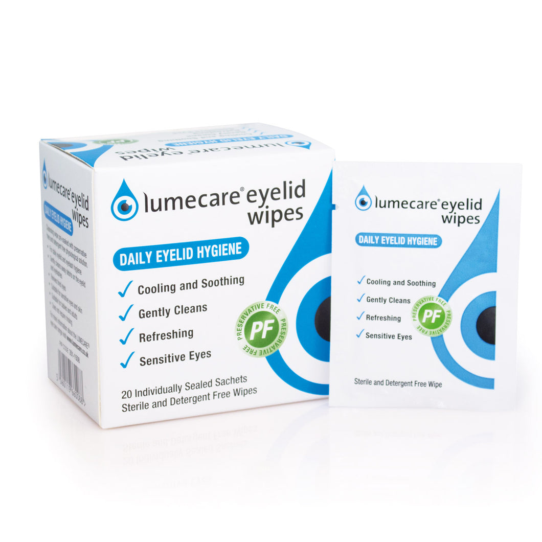 Lumecare Eyelid Wipes 20 x 2.25ml