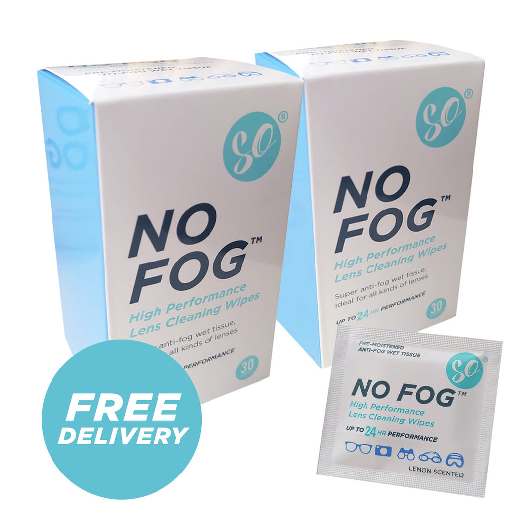 Anti Fog Wipes (NO FOG) x2 boxes 60 wipes