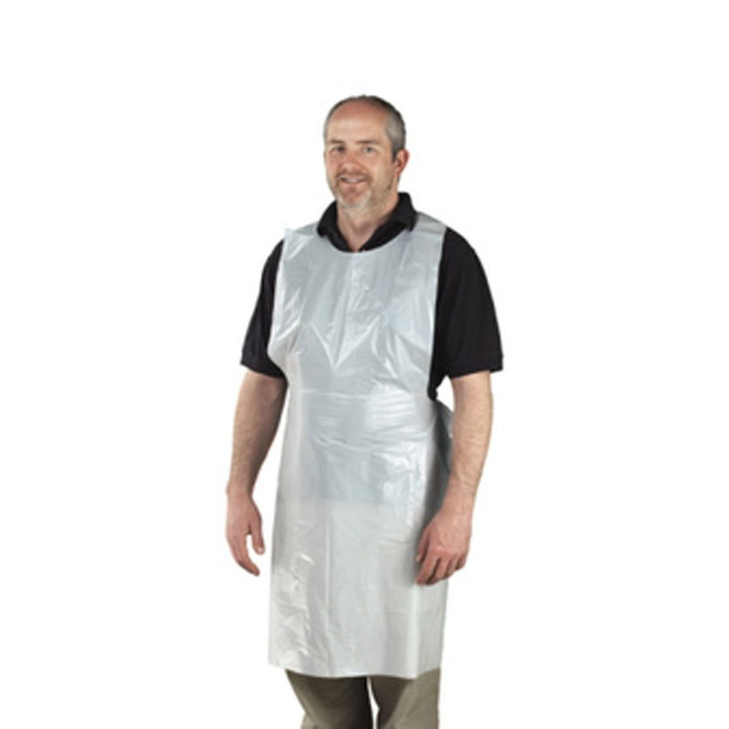 Disposable Apron White Standard 16 Micron