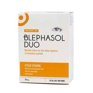 Blephasol Duo Eye Lid Cleansing Lotion + 100 Pads