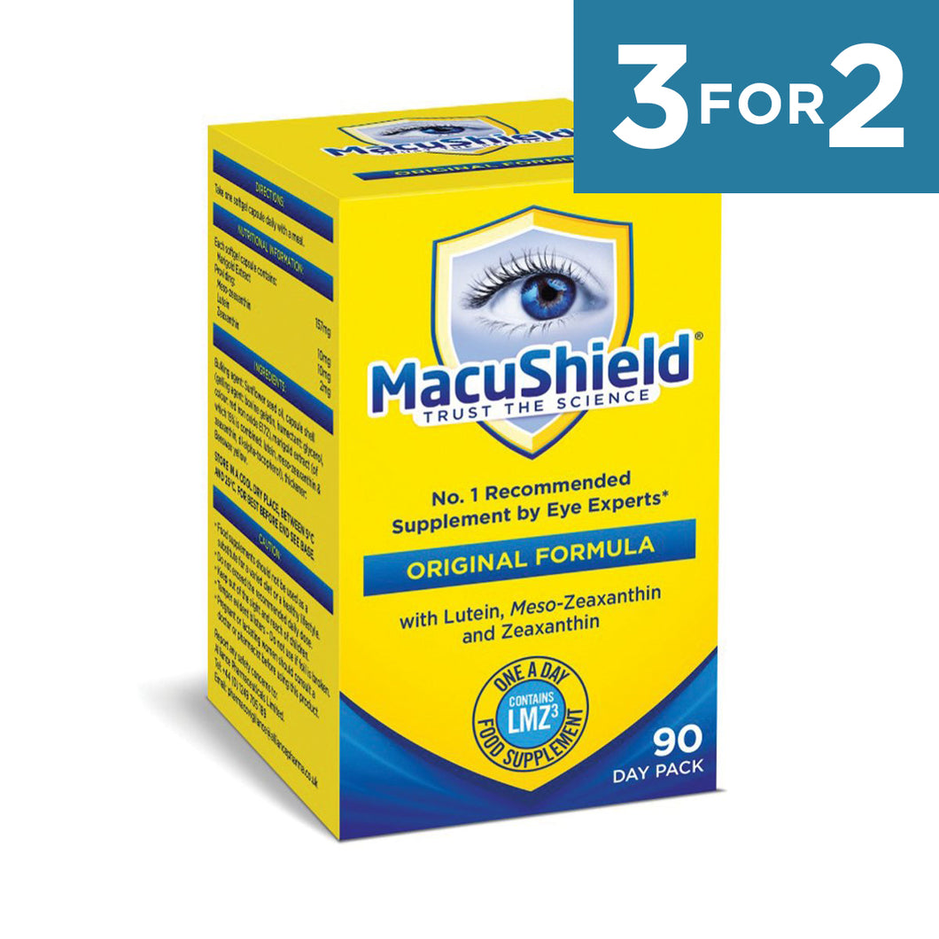 Macushield with MZ Supplements 90 Day - 1 box