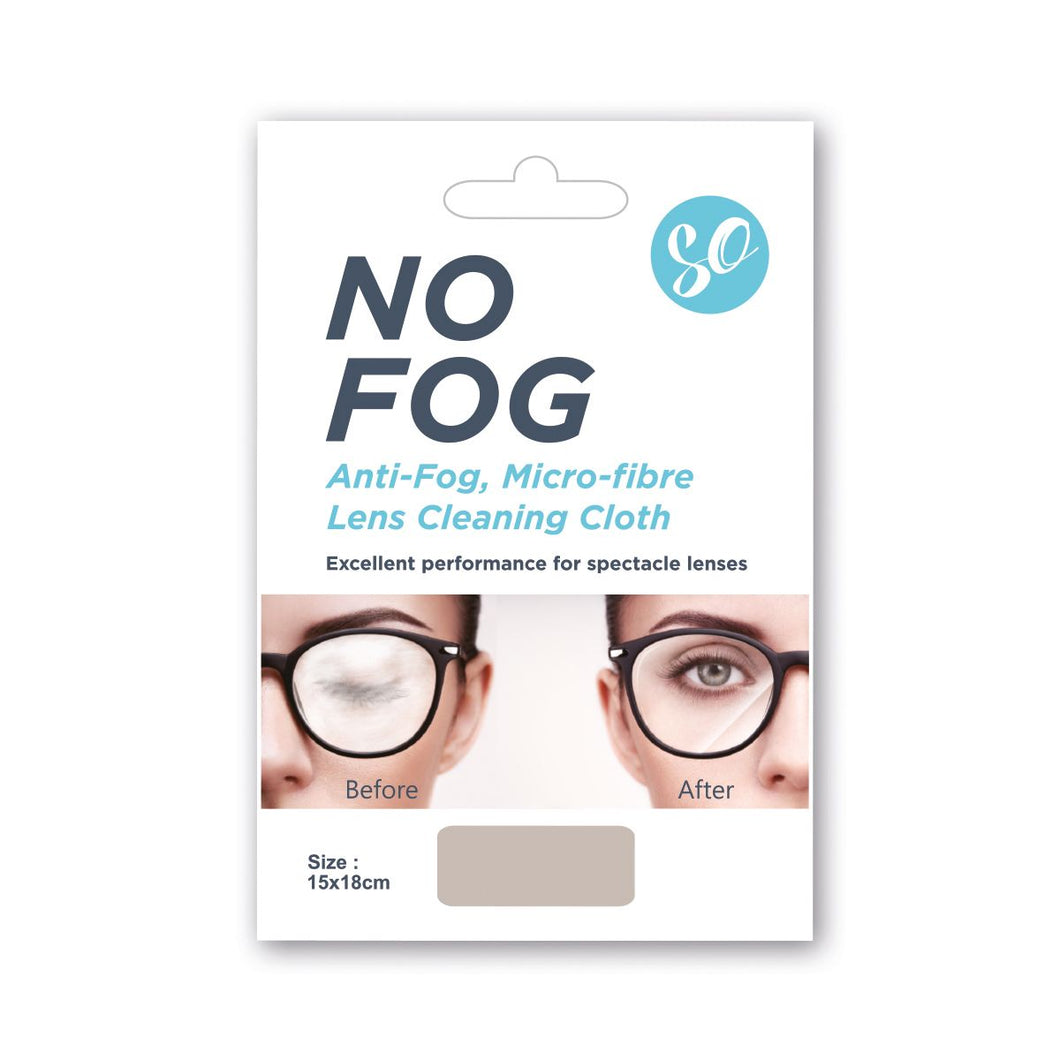 Anti fog cloth for glasses -  No FOG Micro-Fibre Lens Cleaning Cloth.